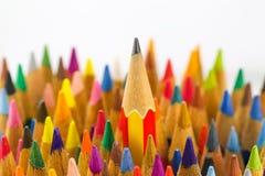Bleistift- und Farbbleistifte Lizenzfreies Stockfoto