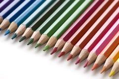 Bleistift und Farbe Stockbild
