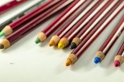 Bleistift und Farben Stockbilder