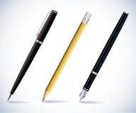 Bleistift und Federn Lizenzfreies Stockbild