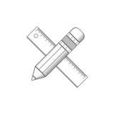 Bleistift- und Machthaberentwurf Lizenzfreie Stockbilder