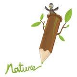 Bleistift und Natur Lizenzfreies Stockfoto