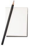 Bleistift und Notizblock stockbilder
