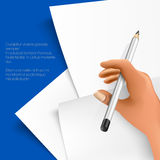 Bleistift und Notizblock Lizenzfreie Stockfotos
