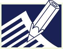 Bleistift und Papier stock abbildung
