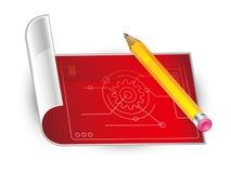 Bleistift und Papier Stockfotos