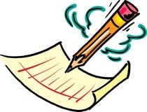 Bleistift und Papier Lizenzfreie Stockbilder
