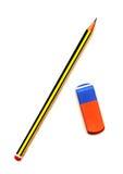 Bleistift und Radiergummi Lizenzfreie Stockbilder