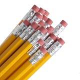 Bleistift und Radiergummi, Gelb und Silber, Rot, #2 Lizenzfreie Stockfotos