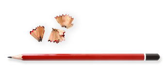 Bleistift und Schnitzel Stockbilder