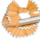 Bleistift und Schnitzel Lizenzfreie Stockbilder