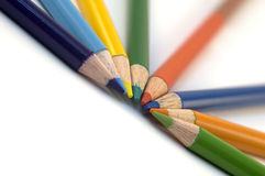 Bleistift-Zeichenstifte Stockfoto