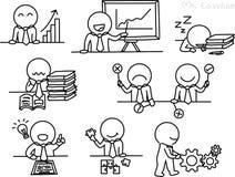Bleistift-Zeichnung als Vektor des Geschäftscharakters Lizenzfreie Stockfotografie