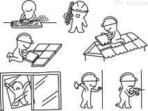 Bleistift-Zeichnung als Vektor des Technikers Stockbild