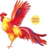 Bleistift-Zeichnung eines Hahns Auch im corel abgehobenen Betrag Lizenzfreie Stockfotos