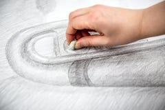 Bleistift-Zeichnungs-Kunst Stockfotos