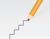 Bleistift-Zeichnungs-Treppe Stockfoto