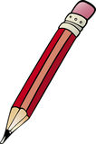 Bleistiftclipart-Karikaturillustration Lizenzfreie Stockbilder