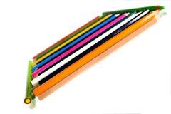 Bleistifte angeordnet stockfotos