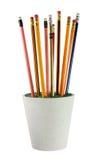 Bleistifte auf Blumen-Topf Lizenzfreie Stockfotografie