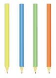 Bleistifte auf einem Weiß Lizenzfreie Stockfotografie