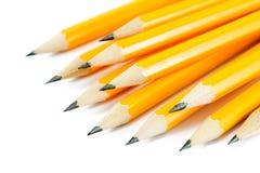 Bleistifte auf einem Weiß Lizenzfreies Stockbild