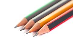 Bleistifte auf einem weißen Hintergrund, einem Werkzeug für das Zeichnen und dem Zeichnen Lizenzfreies Stockfoto