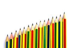 Bleistifte auf Weiß. Stockbilder