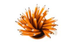 Bleistifte auf weißem Hintergrund Stockfoto