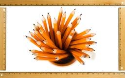 Bleistifte auf weißem Hintergrund Lizenzfreies Stockfoto