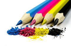 Bleistifte CMYK Lizenzfreies Stockbild