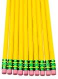 Bleistifte in der Reihe Stockbild