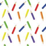 Bleistifte der unterschiedlichen Farbe - ein nahtloses Muster Stockbild