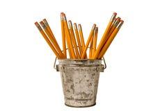 Bleistifte in einem Becherhalter Stockfoto
