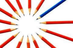 Bleistifte in einem cirlce Lizenzfreie Stockfotos
