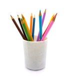 Bleistifte in einem Glas Stockfoto