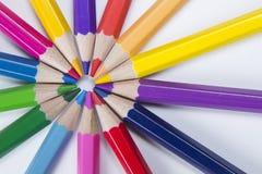 Bleistifte in einem Kreis Stockfoto