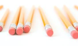 Bleistifte, Eyelevel Ansicht Lizenzfreies Stockfoto