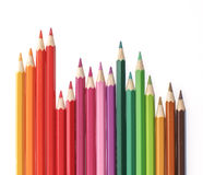 Bleistifte färben auf weißem Hintergrund Lizenzfreie Stockbilder