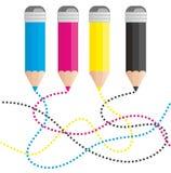 Bleistifte für Drucken Lizenzfreies Stockfoto
