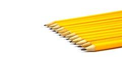 Bleistifte getrennt auf weißem Hintergrund Stockbilder