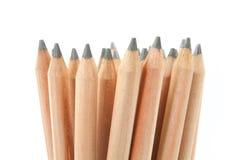 Bleistifte getrennt auf weißem Hintergrund Stockfotos