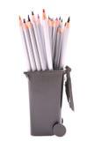 Bleistifte im Abfallstauraum Lizenzfreie Stockbilder