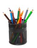 Bleistifte im Bleistifthalter Stockbild