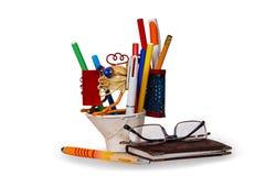 Bleistifte im Bleistiftkasten Stockfotografie