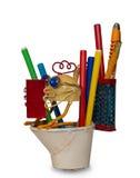 Bleistifte im Bleistiftkasten Lizenzfreie Stockfotos