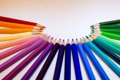 Bleistifte im Halbkreis Lizenzfreie Stockbilder