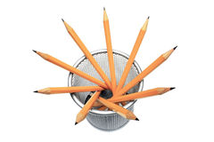 Bleistifte im Halter Stockbild