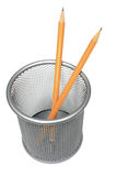 Bleistifte im Halter Lizenzfreie Stockbilder