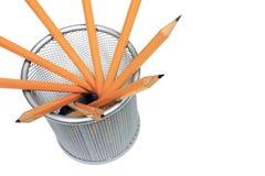 Bleistifte im Halter Stockbilder